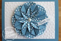 Just Cards / Hand stamped cards, DIY cards, cards from Project Life, cards from scrapbooking supplies - lots of handmade greeting card ideas here! Use these to inspire your next card making session!