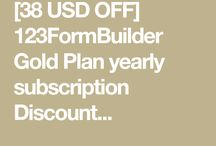 123FormBuilder Gold Plan yearly subscription