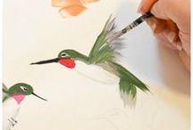 Como pintar pájaros