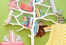 Cantinho da leitura / Ideias para organizar os livros adultos e infantis.