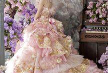 ドレス  花