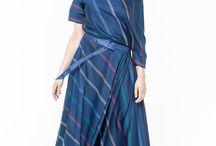 АГ_016Платье ассиметричное с карманами синее