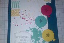 Geburtstagskarten / Meine Karten zum Thema Geburtstag