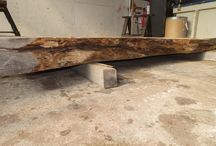 Thick Slabs, Benches, and Mantel Pieces! / Some of our thick natural edge wood slab inventory - various species and dimensions