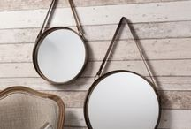 Round Mirrors / Round mirrors are the current trend! They offer a softer look than a traditional rectangular mirror and would enhancing any room in your home!