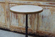 Tables de bistrot, tables de jardin