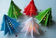 Deko - Weihnachten mit LED + Kerzen