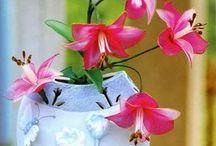 Цветы из капрона (Flowers from nylon)