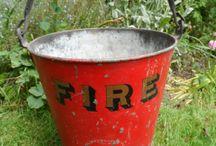 vintage fire buckets