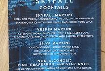James Bond food & cake & drinks