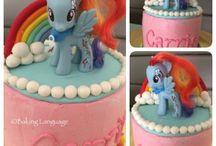 rainbow my little pony cakes