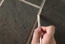 Limpias y pintar las juntas de cerámica