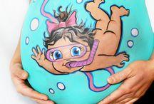 pintura embarazada
