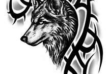 Tattovorlagen Wolf