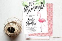 Flamingo Invitation Ideas