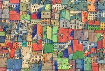 Fantastic cities - A coloring book