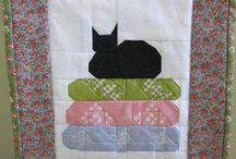 Sewing: Quilt Blocks: Cat Quilt