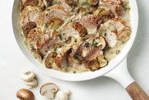 Filet porc champignon