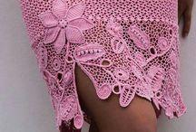 вязаные юбки крючок