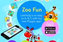 Zoo Fun App / Learning is easy as A, B, C with Playgro's Zoo Fun App. Developed to entertain babies and toddlers, the app brings Playgro's loveable characters to life introducing colours, shapes, numbers, the alphabet and animals. Download now for FREE!