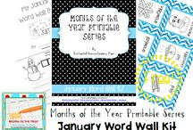 Months of the Year Printable Series / FREE Months of the Year Printable series with activities ranging from word wall kits to bookmarks to descriptive writing assignments to calendars to interactive notebooks and so much more! / by Jill {Enchanted Homeschooling Mom}