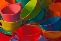 Paintings of Still Life / Everyday objects painted in an imaginative way. I look for bright colours, good use of paint, and an imaginative composition.
