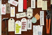Hang tags / #hangtags #letterpress #greetings #cards #gift #ideas #design #celebration