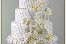White and Ivory Wedding Cakes / cake ideas for brides to be.