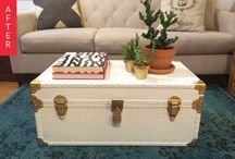 Recycling - Trunk - Vintage home decor / DIY Trunk into table