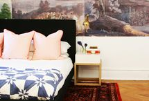 Quilts at Home / Modern interiors featuring quilts.