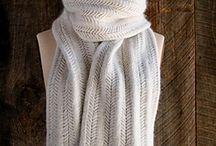 Bufanda blanca / Tejido agujas