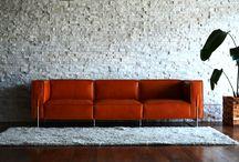 leather sofa / Natural tanned leather SOFA