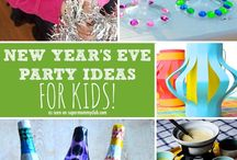 Happy New Year / Crafts, games, decorations, printables, and activities for New Year's Eve.