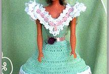 muñecas vestidos a crichet