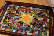 Mosaic serving tray