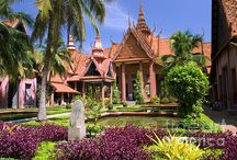 Cambodia / Cambodia - abandoned temples, ruins, ancient monuments, historic architecture, sights, villages, tourists attractions.
