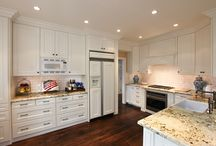 White Kitchen With Custom White Cabinets