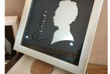 silhouette / unique gift with personal silhouette