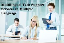 Multilingual Tech Support Services Provider / TridIndia providing Technical support for multiple language translation services in i India and across the globe.