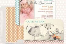 Newborn Templates for Photographers / Newborn customizable photoshop templates for photographers