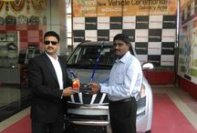 Mr.Satyanarayana - Car & House Fund Achiever / India's first car and house fund achiever Mr.Satyanarayana receiving his car at 300 days celebrations of ProYoung Int.
