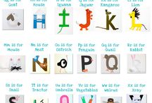 Alphabet: capital letter crafts / by Izzie, Mac and Me