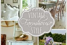 Farmhouse Cottage Style Decor / I love Cottage style and Farmhouse style is merely a spin off of it.  Inspiration for decor.
