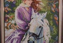mujer en caballo