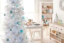 white christmast tree