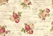Carta scrapbuking 4 fiori e farfalle