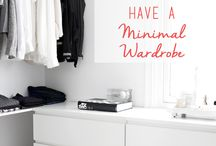 minimal clothes wardrobe