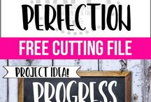Best Of Craft Your Happy / Pins from the Craft Your Happy Blog | free cutting files | DIY tutorials | DIY Wood Sign Tutorials |