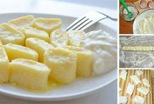 přílohy : knedlíky, rýže, brambory, ..