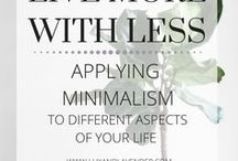 minimalism, frugality, living simple